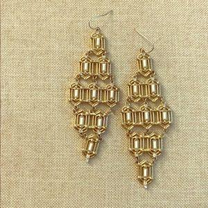 Gently used UO chandelier Art Deco earrings